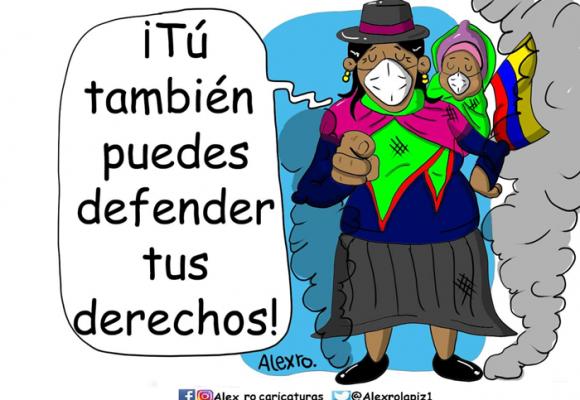Caricatura: El ejemplo de los indígenas ecuatorianos