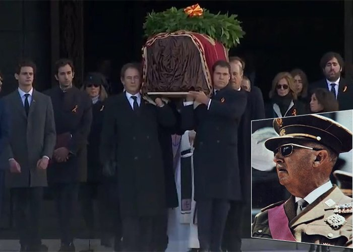 Exhumación del dictador Francisco Franco