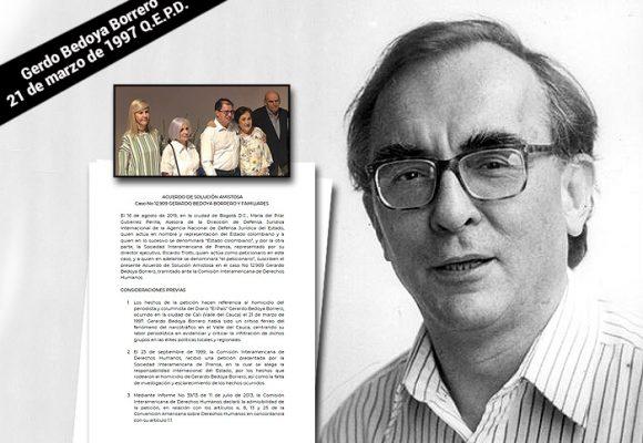 El asesinato del periodista Gerardo Bedoya sigue impune pero el Estado pidió perdón