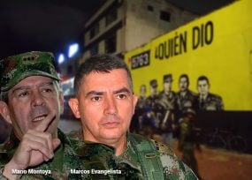 General Montoya entuteló a quienes pintaron mural de falsos positivos