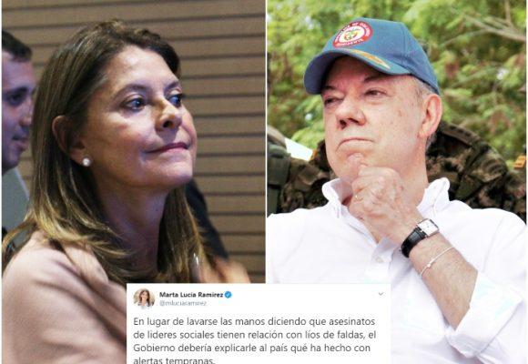 Cuando la vicepresidente criticaba a Santos por los asesinatos a líderes sociales