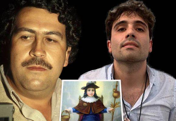 El fervor del hijo del Chapo por el santo que protegía a Pablo Escobar