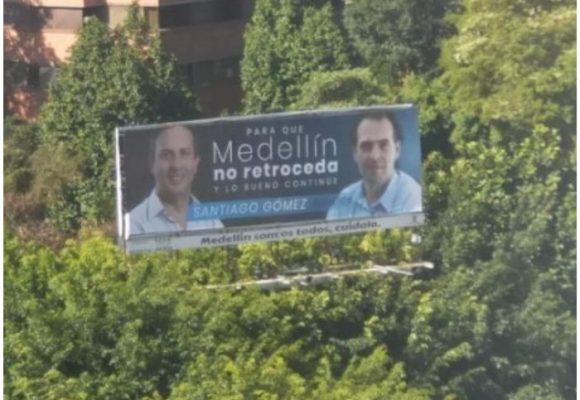 La valla electoral que enreda al alcalde de Medellín