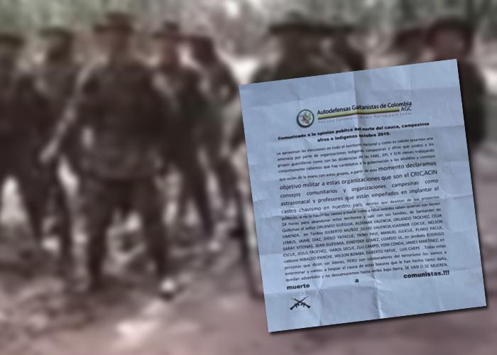 El Cauca sigue bajo amenaza