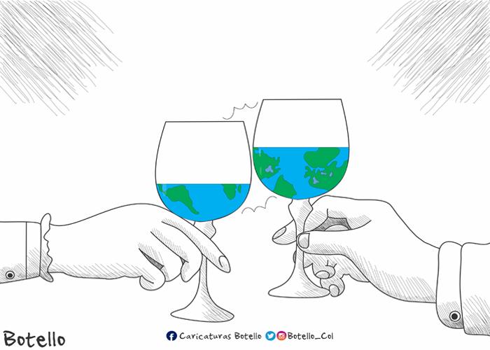 Caricatura: Negociando el planeta