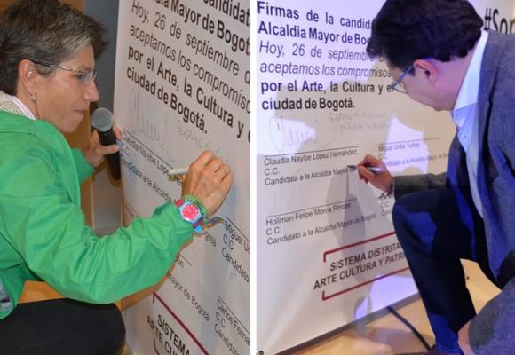 Claudia y Hollman, los únicos candidatos que se comprometieron con la cultura en Bogotá