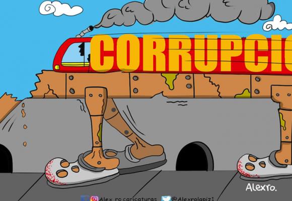 Caricatura: Los riesgos del metro elevado