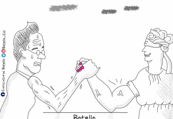 Caricatura: Uribe versus justicia