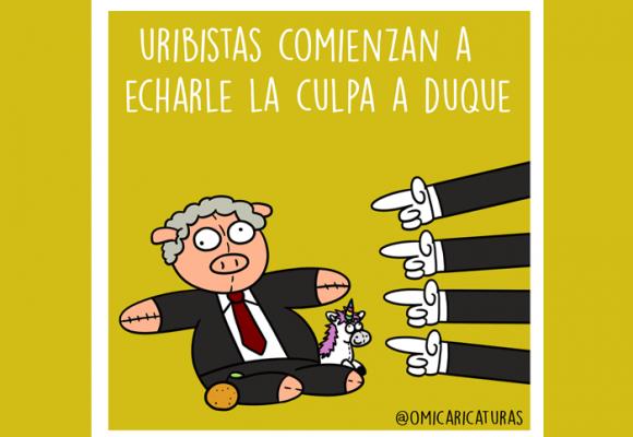 Caricatura: La culpa es de Duque