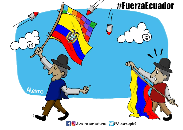 Caricatura: ¡Fuerza, Ecuador!