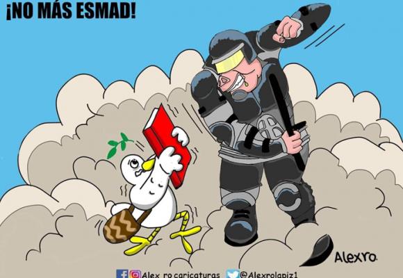 Caricatura: ¡No más Esmad!