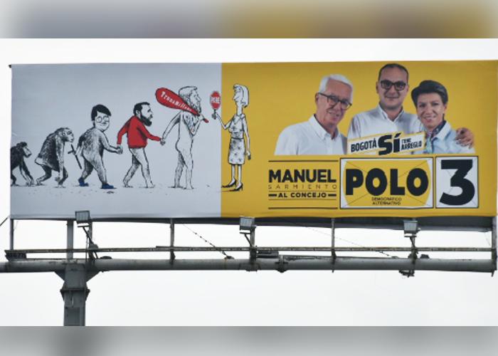 La creativa valla de Manuel Sarmiento que se va con toda contra Peñalosa