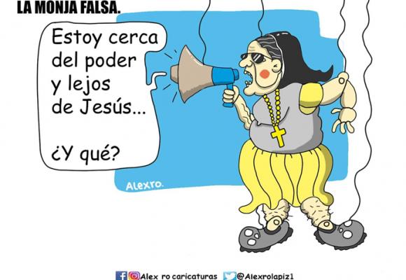 Caricatura: La monja falsa