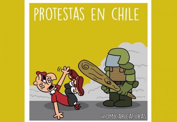 Caricatura: Así van las protestas en Chile