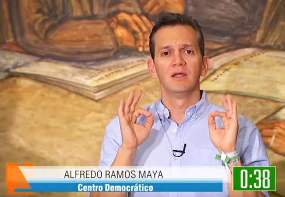 El descache de Alfredo Ramos en el debate de Telemedellín y Hora 13 Noticias