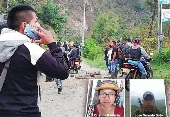 Asesinada la gobernadora y cuatro guardias indígenas en Tacueyó