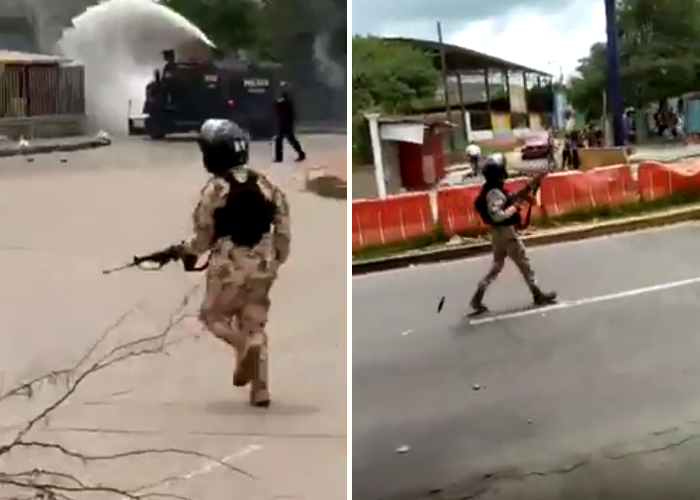 Con disparos el Ejército quiso amedrentar a los estudiantes de la Uniatlántico