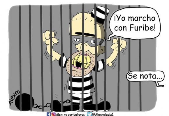 Caricatura: Yo marcho con Furibe