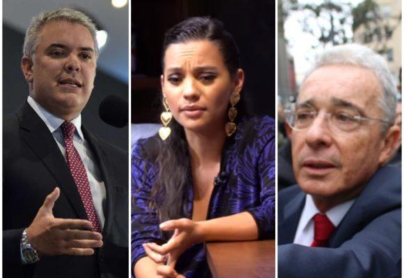 Natalia Reyes no puede ver ni en pintura a Duque ni a Uribe
