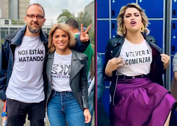 Adriana Lucia, la única cantante vallenata que apoya el paro