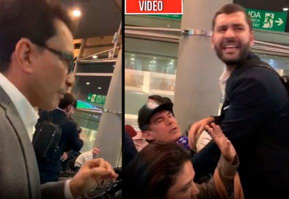 VIDEO: Cruce de insultos entre Carlos Caicedo y Álvaro Cotes en el Aeropuerto de Bogotá