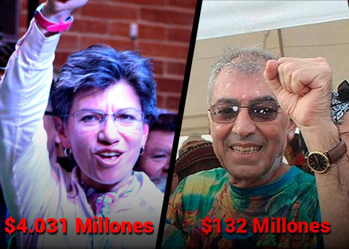 Claudia López, la que más gastó; William Dau, el de Cartagena, el más austero