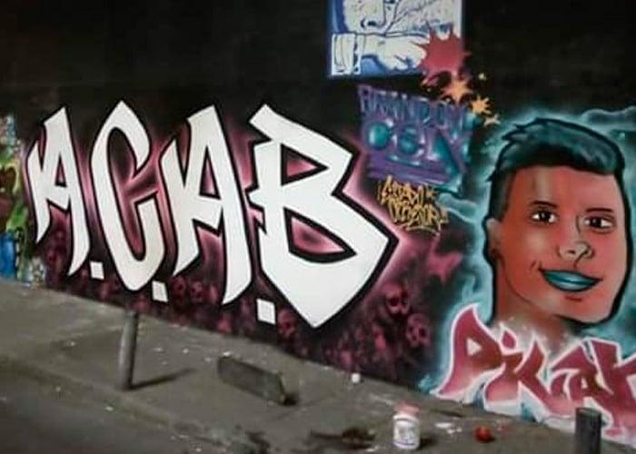 En Bogotá censuran un mural en homenaje a Dilan Cruz