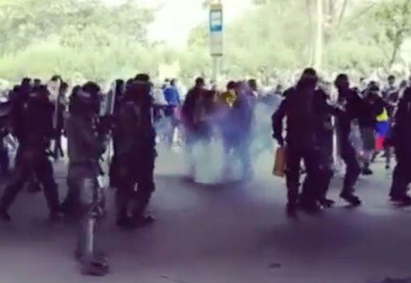 El ataque del Esmad a las manifestaciones que iban al Dorado