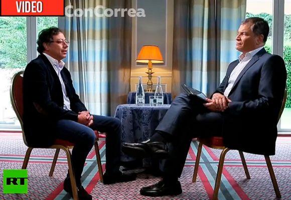 Petro, el invitado de lujo al programa de Rafael Correa