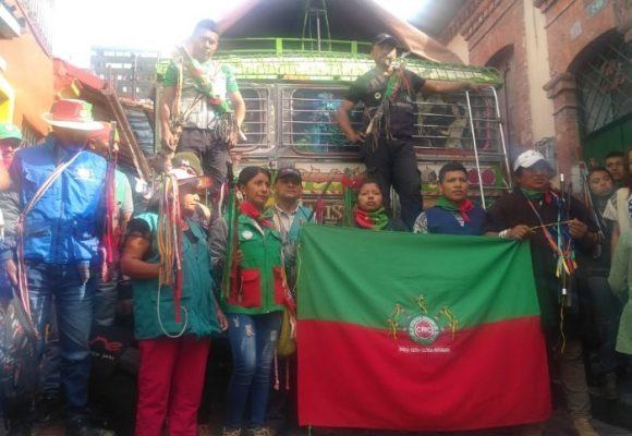 Comitiva indígena llega a Bogotá