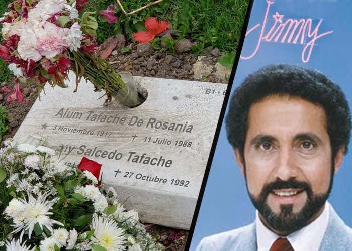 La triste tumba de Jimmy Salcedo en Jardines del Recuerdo