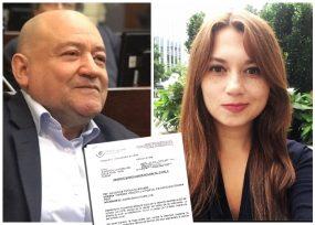 K.O. del senador Carlos Antonio Lozada a la periodista que lo injurió