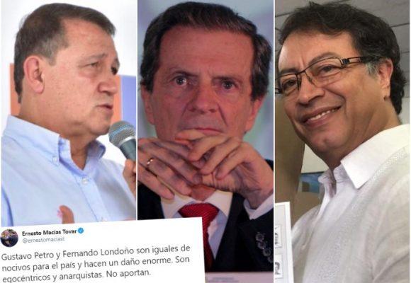 Macías compara a Fernando Londoño con Gustavo Petro