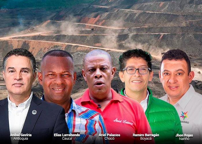Cinco gobernadores que manejarán las regalías de las mineras en Colombia