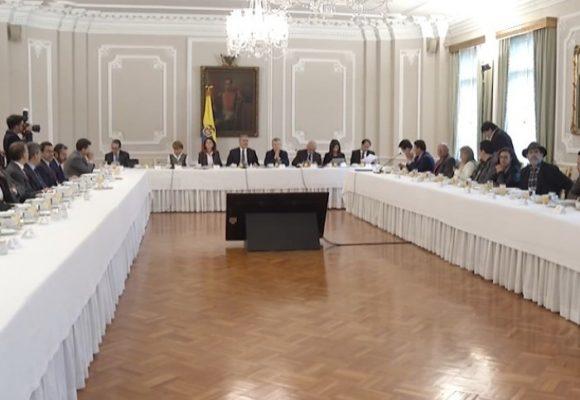 Plana mayor del gobierno en reunión con comité del paro: sin resultados