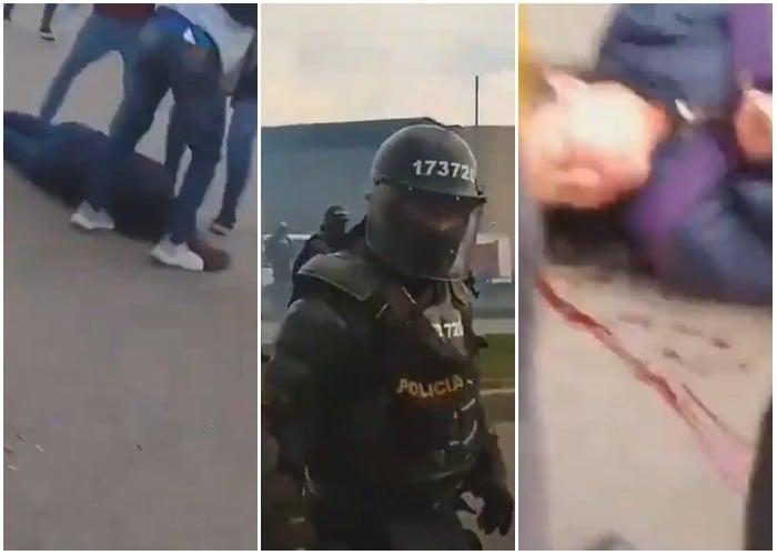 El Esmad golpea brutalmente a otra mujer en la autopista sur