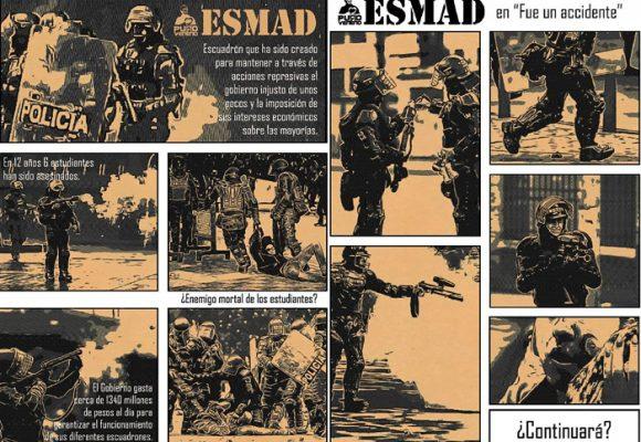 La venganza de los graffiteros de Puro Veneno contra el Esmad