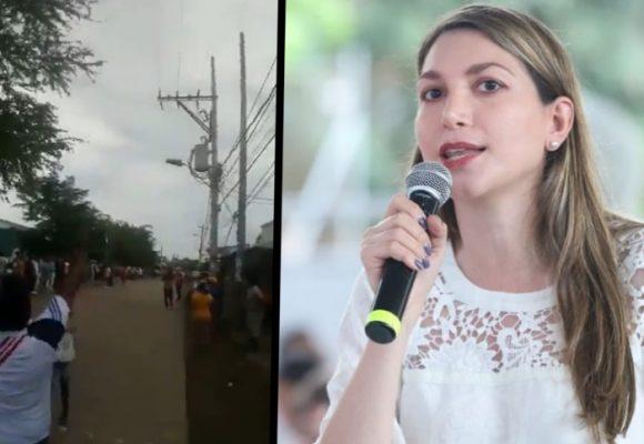 VIDEO: Abucheo a la senadora Ruby Chagüi en su propia tierra