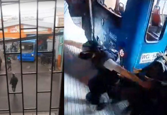 Impactante ataque con un SITP a un ARA y sus empleados
