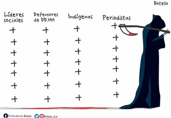 Caricatura: El aterrador panorama que se vive en Colombia