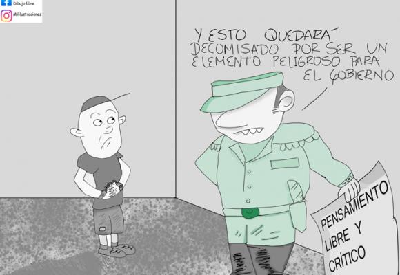 Caricatura: Los allanamientos del gobierno
