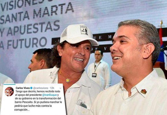 La patraseada de Carlos Vives con la marcha del 21 de noviembre