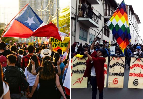 De la manifestación de los pueblos de América: la de Chile no, la de Ecuador sí