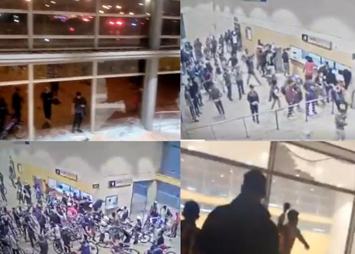 Una protesta masiva manchada con disturbios
