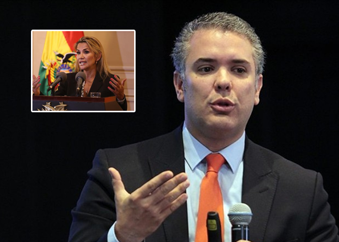 Duque no me representa, menos al aceptar el gobierno de Jeanine Áñez en Bolivia
