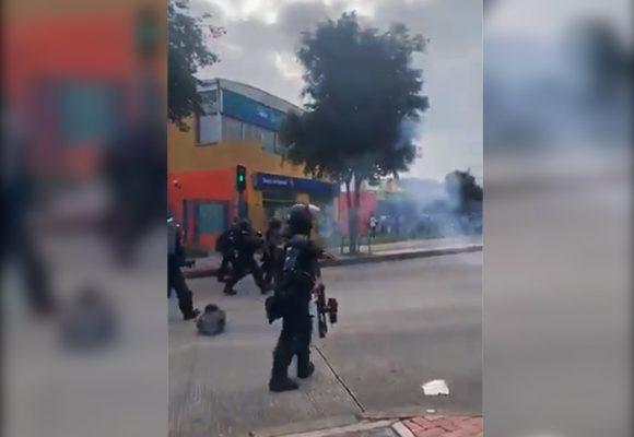 [Videos] ESMAD siembra caos en Paro Nacional desde temprano en Bogotá