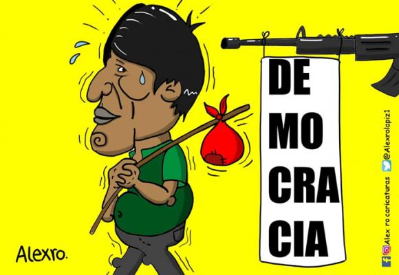 Caricatura: ¿Democracia en Bolivia?