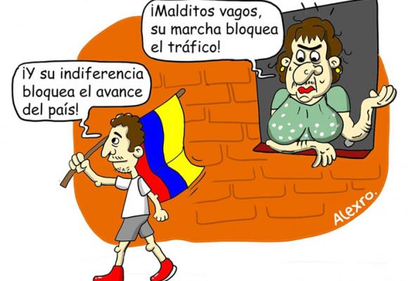 Caricatura: Colombia y su cruel indiferencia