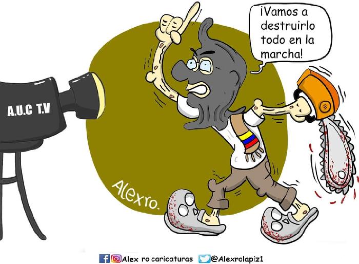 Caricatura: ¡Sí al paro, no a los violentos!