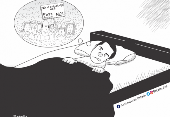 Caricatura: Las pesadillas del Duque